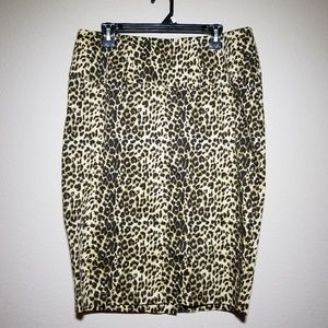 Torrid Leopard Print Pencil Skirt